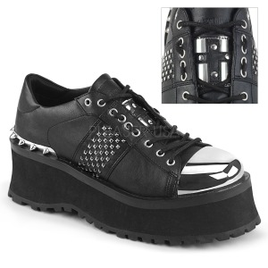 Vegan 7 cm GRAVEDIGGER-02 Chaussures Gothiques Hommes Plateforme