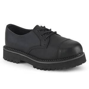 Vegan RIOT-03 chaussures demonia - chaussures à cap d acier punk