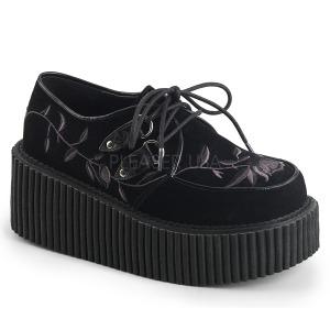Velours 7,5 cm CREEPER-219 chaussures creepers femmes semelles épaisses