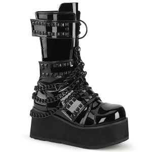 Verni 8,5 cm TRASHVILLE-138 bottes demonia - bottes plateforme unisex