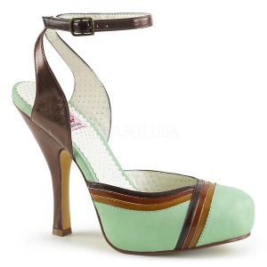 Vert 11,5 cm CUTIEPIE-01 Pinup sandales plateforme cachée