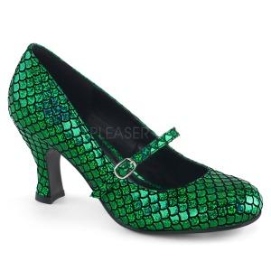Vert 7,5 cm MERMAID-70 escarpins femmes à talons bas