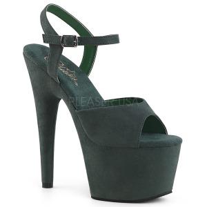 Vert Similicuir 18 cm ADORE-709FS sandales à talons aiguilles