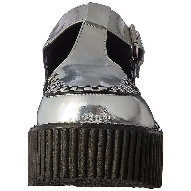Argent 214 Chaussures Femmes Plateforme Creepers Creeper dCroWxBe