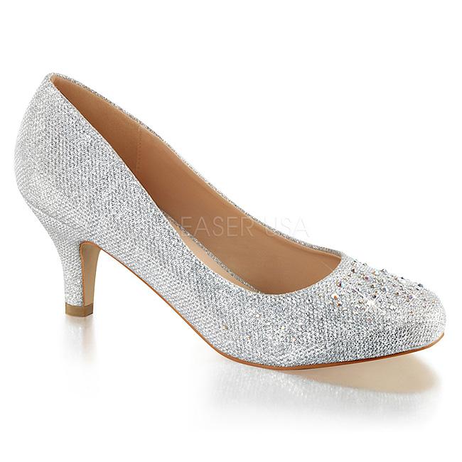 890f538cd0 Argent Pierre Cristal 6,5 cm DORIS-06 Chaussures Escarpins de Soirée