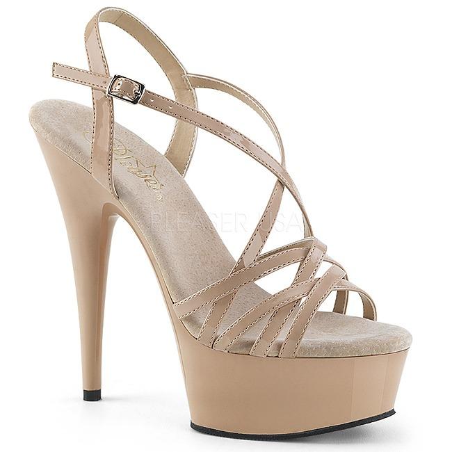 beige 15 cm pleaser delight 613 sandales femme talon boutique en ligne. Black Bedroom Furniture Sets. Home Design Ideas