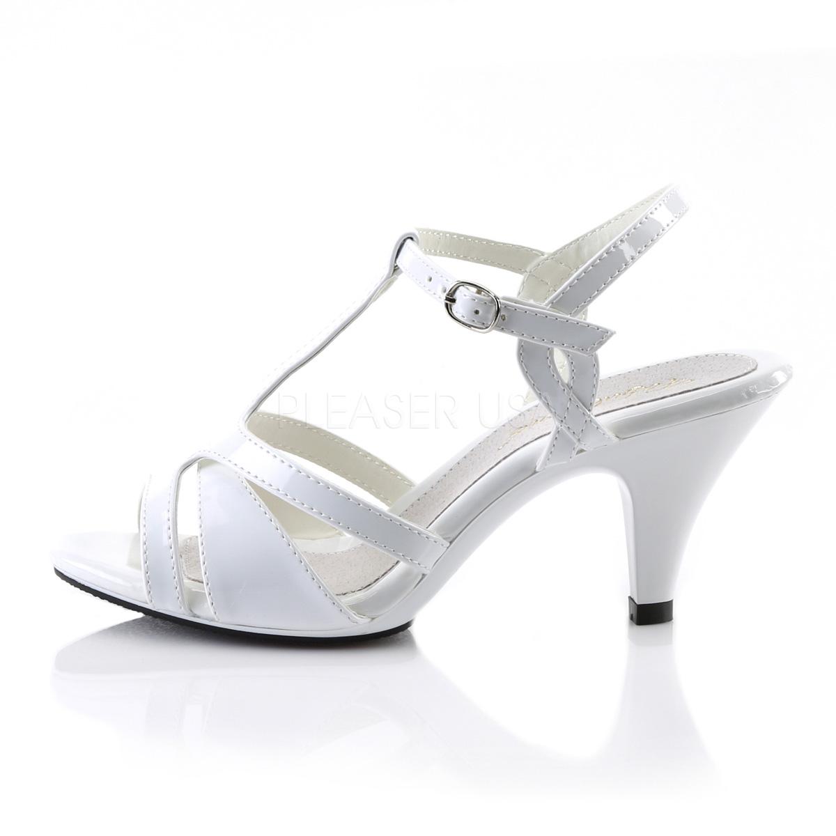 regard détaillé ead4e 39f3d Blanc 8 cm Fabulicious BELLE-322 sandales à talons aiguilles
