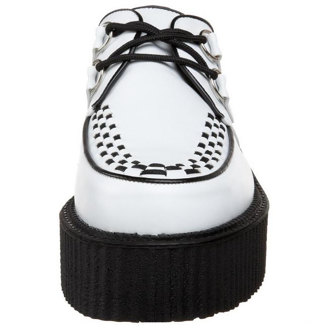 9a9c1d71d8b71b Blanc CREEPER Hommes Chaussures V Plateforme Creepers 502 Similicuir  qfArBSqT