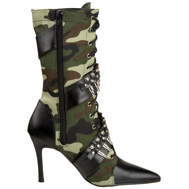 camouflage 9 5 cm militant 128 bottines talons hauts femmes. Black Bedroom Furniture Sets. Home Design Ideas