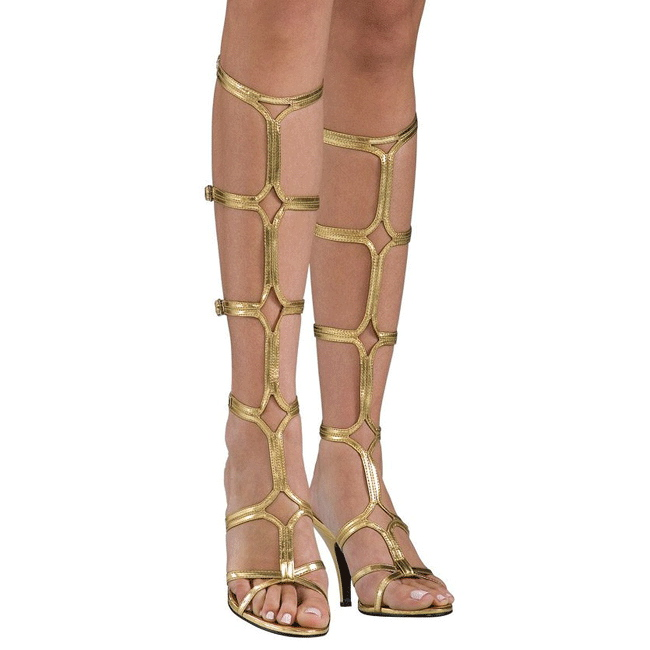 10 Hautes Spartiates 8 Doree Gladiateur Cm Roman Genoux Sandales hQrdtsC