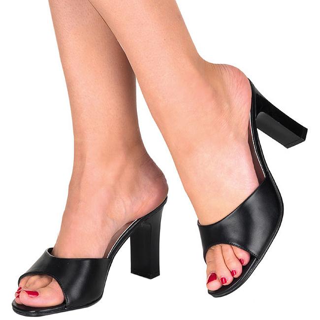 noir rom301 2 b pu fabulicious grande pointure mules pour hommes chaussures mules femmes les. Black Bedroom Furniture Sets. Home Design Ideas
