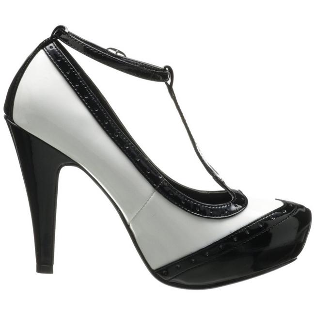 noir blanc 11 5 cm bettie 22 chaussures pour femmes a talon. Black Bedroom Furniture Sets. Home Design Ideas