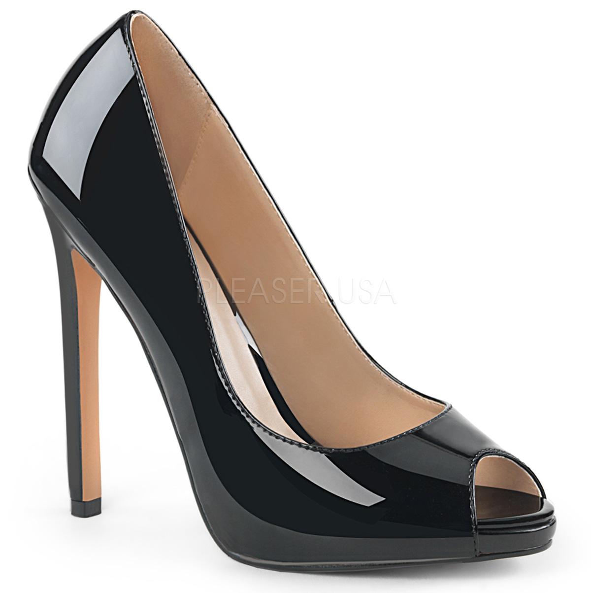 42 13 Sexy Chaussures Verni Cm Escarpins Classiques Noir shrdxQtC