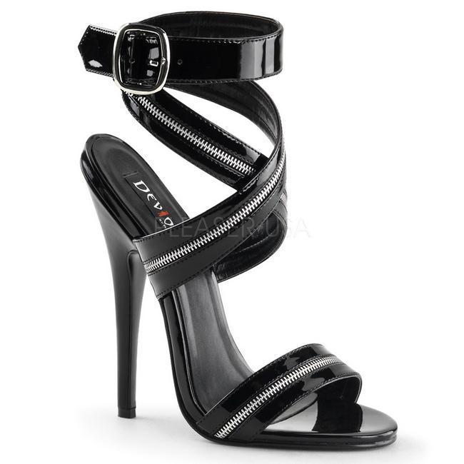 Verni Cm 119 Heels Femmes 15 Sandales High Domina Noir sxtrChQd