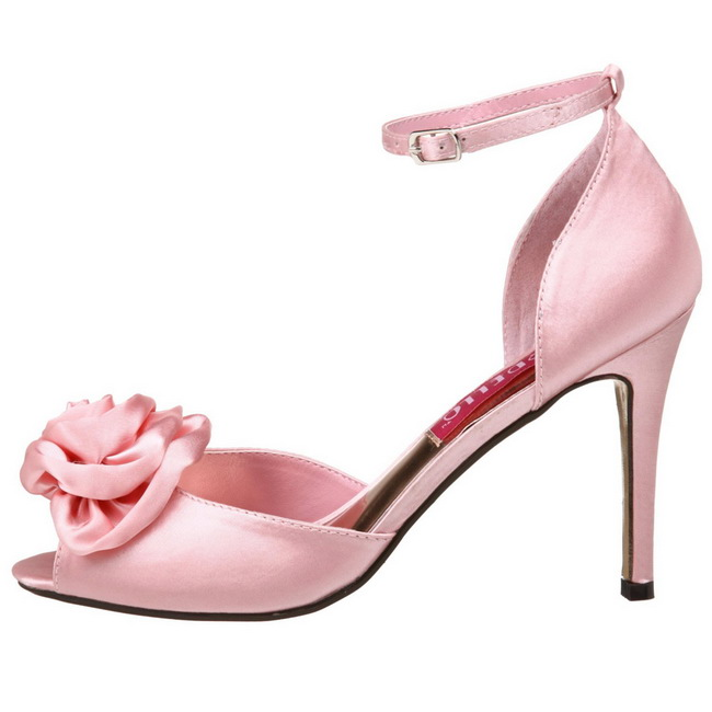 rose satin 9 5 cm rosa 02 sandales femme a talon. Black Bedroom Furniture Sets. Home Design Ideas
