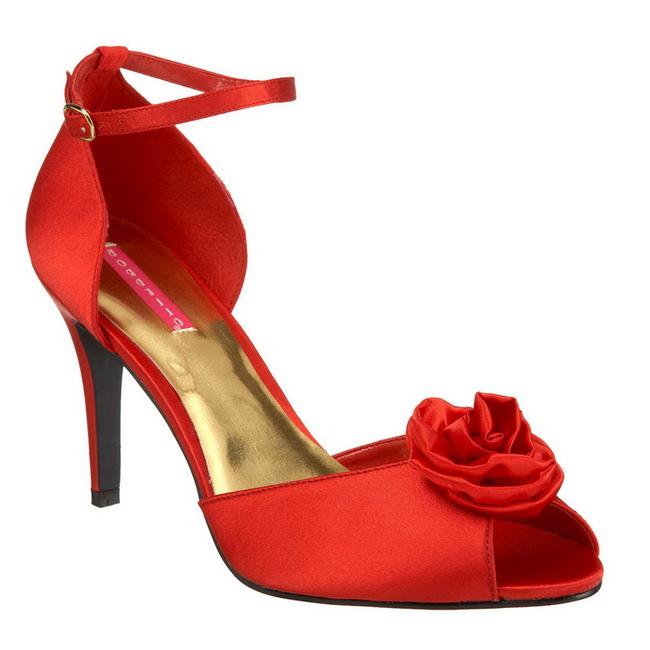 A Talon Satin Cm 9 02 5 Rosa Sandales Rouge Femme CstQrdhx
