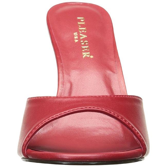 Rouge similicuir 10 cm classique 01 grande taille mules for Taille baignoire classique