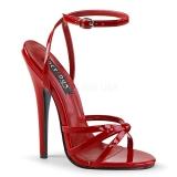 Rouge 15 cm Devious DOMINA-108 sandales à talons aiguilles