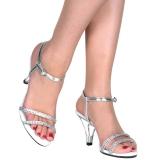 Argent pierre strass 8 cm BELLE-316 chaussures travesti