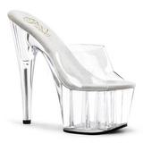 Transparent 18 cm ADORE-701 Plateforme Mules Chaussures