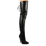 Noir Cuir 13 cm LEGEND-8899 bottes overknee femme