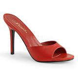Rouge 10 cm CLASSIQUE-01 mules talons hauts
