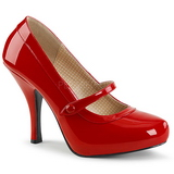 Rouge Verni 11,5 cm PINUP-01 grande taille escarpins femmes