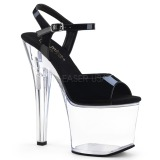 Acrylique 18 cm Pleaser RADIANT-709 Plateforme Chaussures Talon Haut