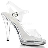 Argent 11,5 cm FLAIR-408 chaussures travesti