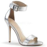 Argent 13 cm Pleaser AMUSE-10 sandales à talons aiguilles