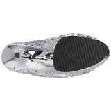 Argent 15 cm DELIGHT-1008SQ bottines a paillettes pour femmes