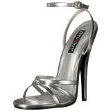 Argent 15 cm DOMINA-108 chaussures fetish à talons