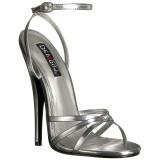 Argent 15 cm Devious DOMINA-108 sandales à talons aiguilles