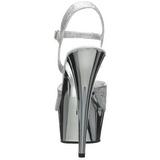 Argent 15 cm Pleaser DELIGHT-609G Chrome Plateforme Talons Hauts