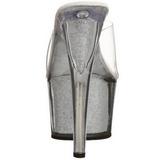 Argent 18 cm ADORE-701G Etinceler Plateforme Mules Hautes