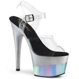 Argent 18 cm ADORE-708-2HGM chaussures plateforme et talons glitter