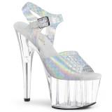 Argent 18 cm ADORE-708N-MS chaussures plateforme et talons glitter