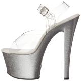 Argent 18 cm Pleaser SKY-308MG chaussures à talons etincelle