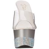 Argent Diamant 18 cm Pleaser ADORE-701-3 Mules Talons Aiguilles