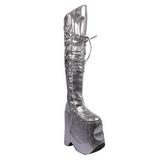 Argent Etinceler 22 cm FABULOUS-3035 Bottes pour Drag Queen