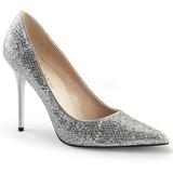 Argent Etincelle 10 cm CLASSIQUE-20 grande taille chaussures stilettos