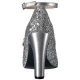 Argent Etincelle 10 cm QUEEN-01 grande taille escarpins femmes