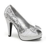 Argent Etincelle 12 cm BETTIE-10 Platform Escarpins Chaussures