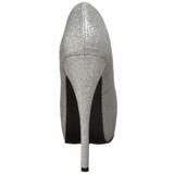 Argent Etincelle 14,5 cm Burlesque TEEZE-31G Platform Escarpins Chaussures