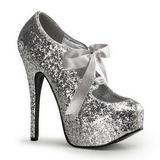 Argent Etincelle 14,5 cm TEEZE-10G Platform Escarpins Chaussures