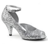 Argent Etincelle 7,5 cm BELLE-381G chaussures escarpins bout ouvert