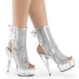 Argent Filet 16 cm Pleaser DELIGHT-1018MSH Plateforme Bottines