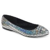 Argent MERMAID-21 ballerines chaussures plates femmes