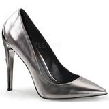 Argent Mat 11,5 cm VOLTAGE-01 Chaussures Escarpins Classiques