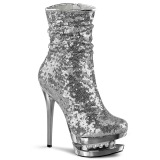 Argent Paillettes 15,5 cm BLONDIE-R-1009 pleaser bottines à plateforme